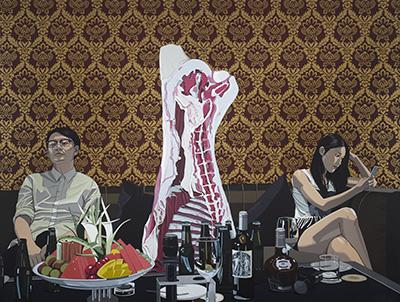 不合作 亚麻布、丙烯 2015 180 × 240 cm